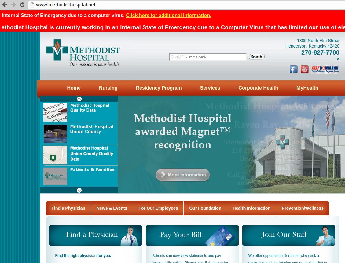 Methodist Hospital State of Emergency